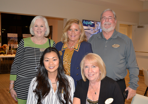 Realtors from Florida Executive Realty enjoyed a wine and cheese social at Asturia in Odessa, FL